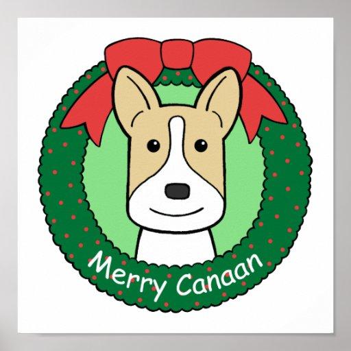 Navidad del perro de Canaan Posters