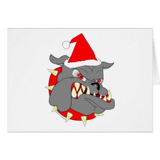 Navidad del perro de diablo del USMC Tarjeta De Felicitación