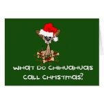 Navidad del perro de la chihuahua felicitaciones