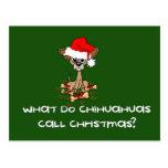 Navidad del perro de la chihuahua postal