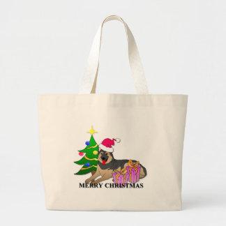 Navidad del perro de pastor alemán bolsas