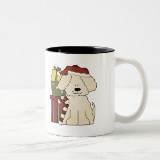 Navidad del perro de perrito tazas