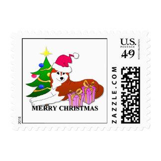 Navidad del perro del husky siberiano envio