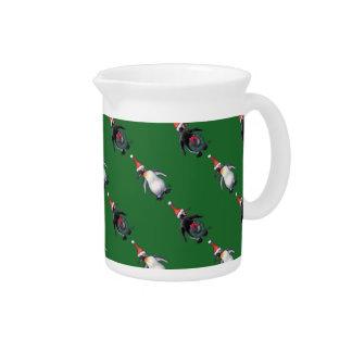 Navidad del pingüino jarras para bebida