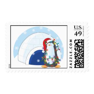 Navidad del pingüino franqueo