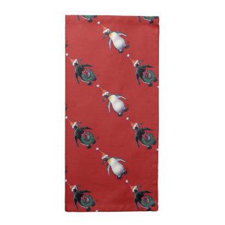 Navidad del pingüino servilletas de papel