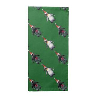 Navidad del pingüino servilletas imprimidas