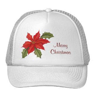 Navidad del Poinsettia Gorras De Camionero