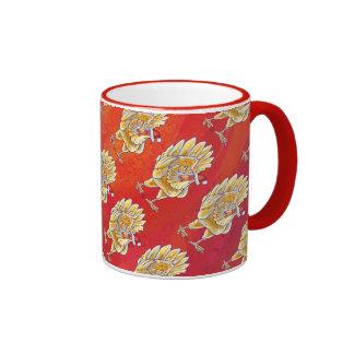 Navidad del pollo en rojo taza de dos colores