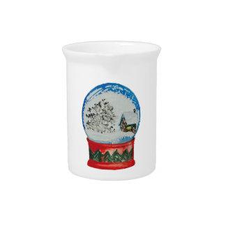 Navidad del pueblo del invierno de la bola de jarras de beber