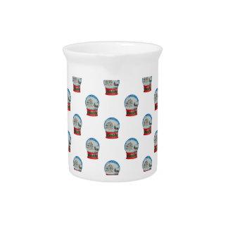 Navidad del pueblo del invierno del modelo de la jarras para bebida