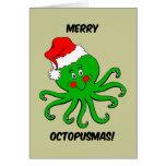 Navidad del pulpo tarjeta