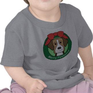 Navidad del raposero americano camisetas