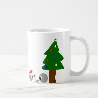 navidad del regalo de los átomos taza