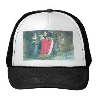 Navidad del renacimiento de un vintage de la proce gorras