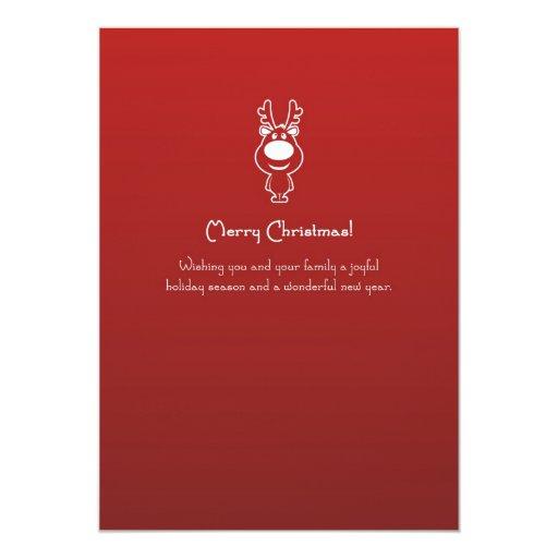 """Navidad del reno 2011 tarjetas planas invitación 5"""" x 7"""""""