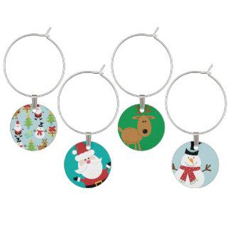 Navidad del reno, de Papá Noel y del muñeco de Identificadores De Copas