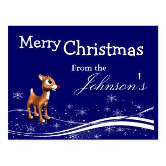 Navidad del reno del dibujo animado que saluda tarjetas postales