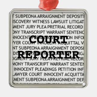 Navidad del reportero de corte adorno para reyes