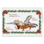 Navidad del reptil tarjeta