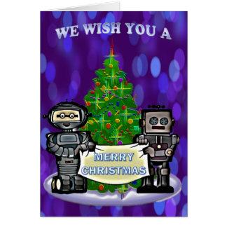 Navidad del robot tarjeta de felicitación