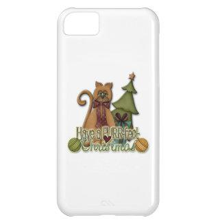 Navidad del Ronroneo-fect Funda iPhone 5C