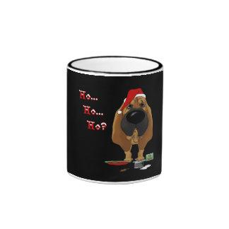 Navidad del sabueso tazas de café
