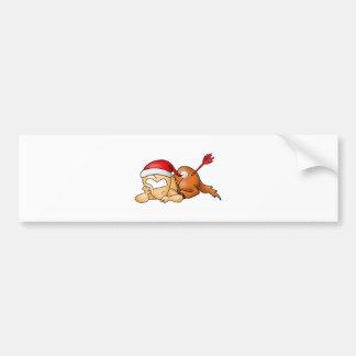 Navidad del sagitario etiqueta de parachoque
