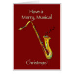 Navidad del saxofón felicitación
