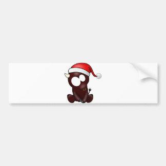 Navidad del tauro etiqueta de parachoque