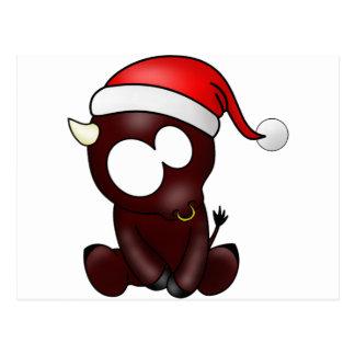 Navidad del tauro tarjeta postal