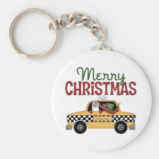 Navidad del taxista llavero personalizado