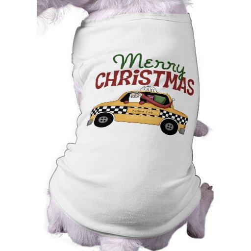 Navidad del taxista ropa perro