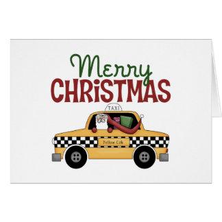 Navidad del taxista tarjeta de felicitación