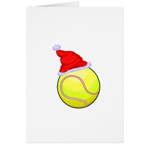 Navidad del tenis tarjetas