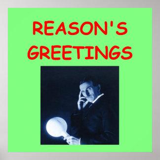 navidad del tesla póster