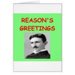 navidad del tesla tarjeta de felicitación