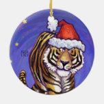 Navidad del tigre adorno