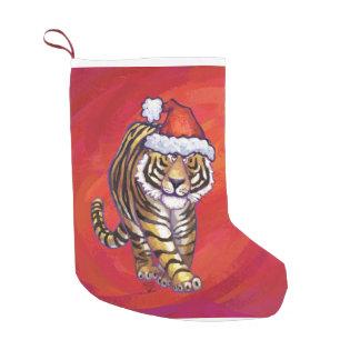 Navidad del tigre calcetín de navidad pequeño