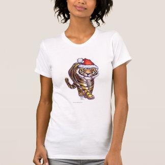 Navidad del tigre camiseta