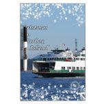Navidad del transbordador del puerto de viernes bu tablero blanco