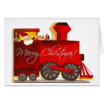 Navidad del tren de Choo-Choo del vintage Tarjeta De Felicitación