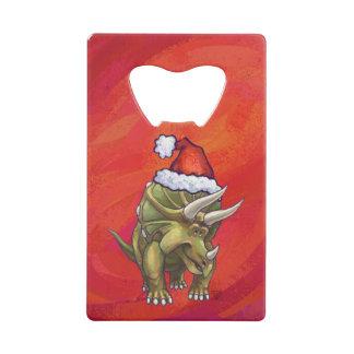 Navidad del Triceratops en rojo