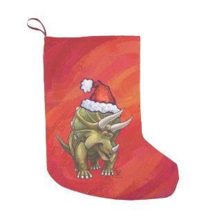 Navidad del Triceratops en rojo Calcetín Navideño Pequeño