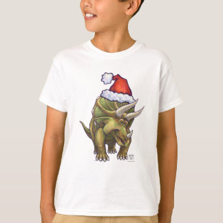 Navidad del Triceratops Playera