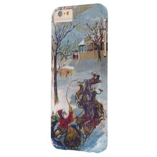 Navidad del trineo de Santa del vintage Funda De iPhone 6 Plus Barely There