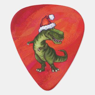 Navidad del Tyrannosaurus en rojo Plumilla De Guitarra