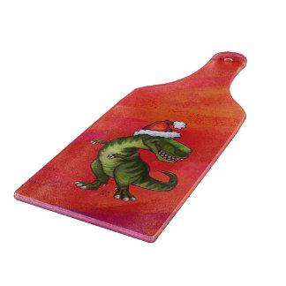 Navidad del Tyrannosaurus en rojo Tablas De Cortar