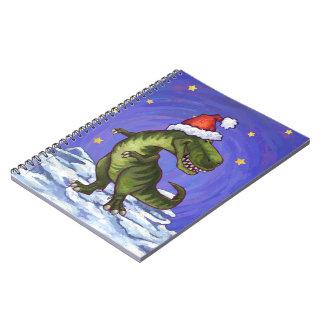Navidad del Tyrannosaurus Libretas Espirales