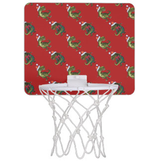 Navidad del Tyrannosaurus Tablero De Baloncesto Mini